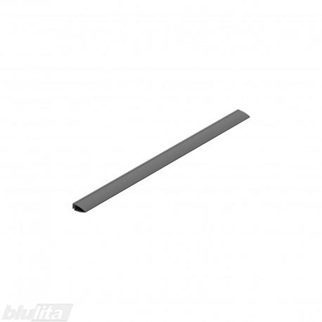 """METROPOLIS dėklo šoninė tarpinė, 500mm gylio TANDEMBOX stalčiams, 457mm, pilka """"Basalt grey"""""""