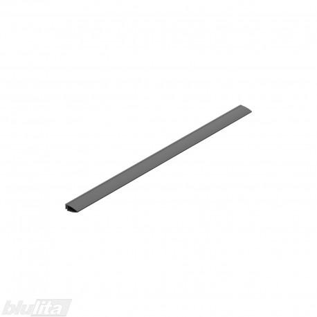 """METROPOLIS dėklo galinė tarpinė, 600mm pločio TANDEMBOX stalčiams, ilgis 484mm, pilka """"Basalt grey"""""""