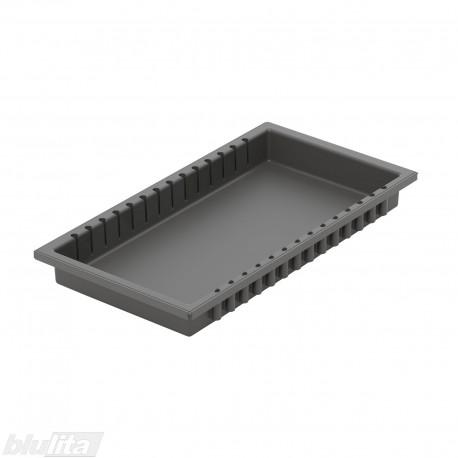 """METROPOLIS dėklas, 500mm gylio TANDEMBOX stalčiams, 240mm pločio, pilka """"Basalt grey"""""""