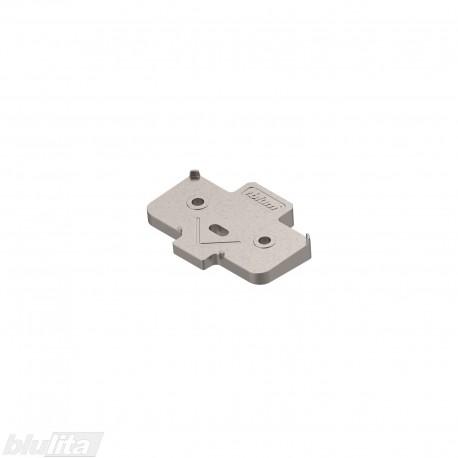 Kampinė plokštelė +5°, pakelia CLIP lanksto plokštelę 3mm, nikelio spalvos