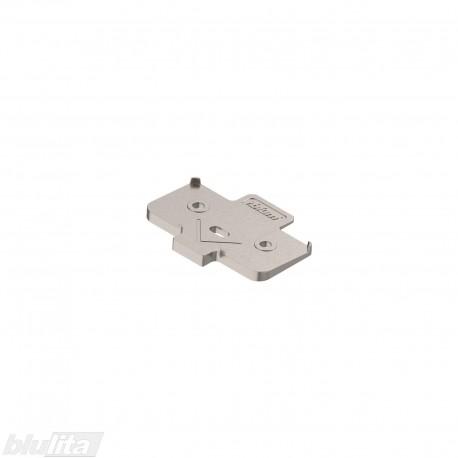 Kampinė plokštelė -5°, pakelia CLIP lanksto plokštelę 6mm, nikelio spalvos