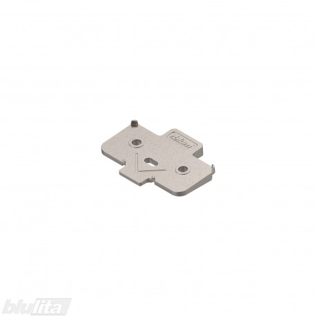 Kampinė plokštelė +5°, pakelia CLIP lanksto plokštelę 0,8mm, nikelio spalvos