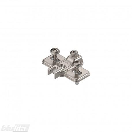 MODUL lanksto plokštelė, 0mm, EXPANDO, reguliuojama atpalaiduojant tvirtinimo kaiščius, nikelio spalvos
