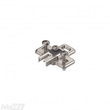 MODUL lanksto plokštelė integr. šaldytuvo lankstui (91K9550), 0mm, EXPANDO, reguliuojama atpalaiduojant tvirtinimo kaiščius