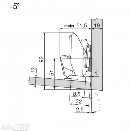 CLIP top lanksto komplektas ploniems fasadams N114