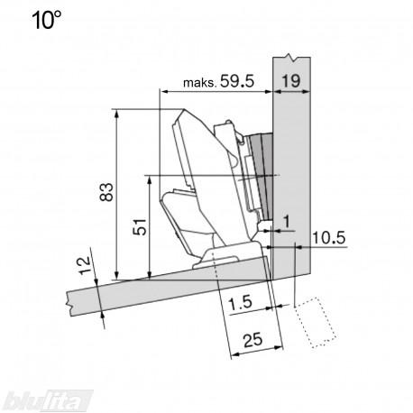 CLIP top lanksto komplektas ploniems fasadams N116