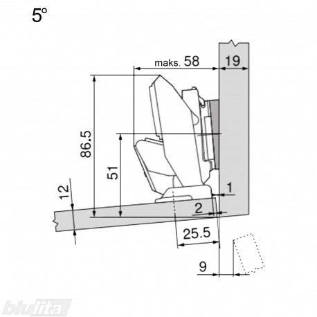 CLIP top lanksto komplektas ploniems fasadams N115
