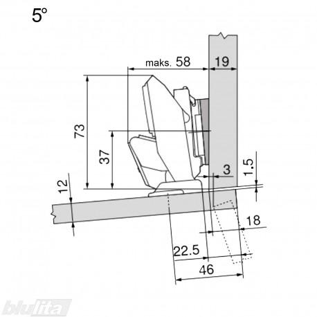 CLIP top lanksto komplektas ploniems fasadams N111