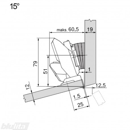 CLIP top lanksto komplektas ploniems fasadams N117