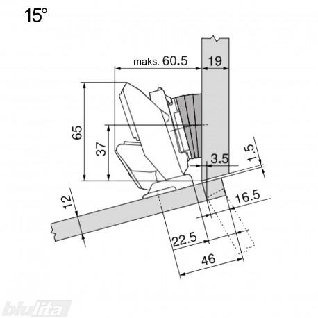 CLIP top lanksto komplektas ploniems fasadams N113