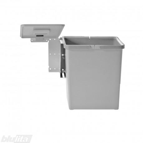 SWING šiukšliadėžės komplektas, 450mm pločio spintelėms, aukštis 350mm, 18l, šviesiai pilkas