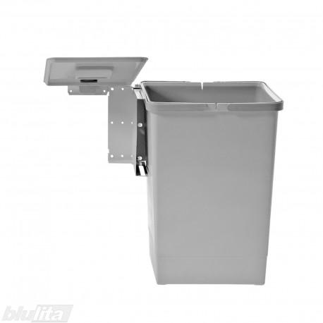 SWING šiukšliadėžės komplektas, 450mm pločio spintelėms, aukštis 450mm, 24l, šviesiai pilkas