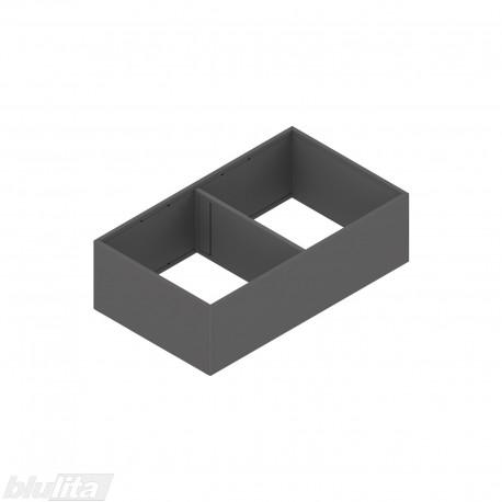 AMBIA-LINE plieninis rėmelis su magnetine nugarėle, plotis218mm, gylis400mm, aukštis111mm, tamsiai pilkas