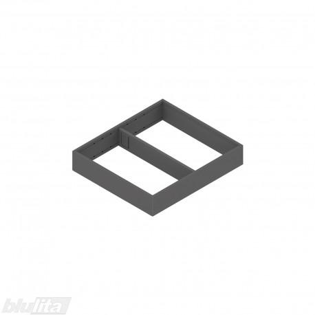 AMBIA-LINE plieninis rėmelis su magnetine nugarėle, plotis242mm, gylis270mm, aukštis50,7mm, tamsiai pilkas