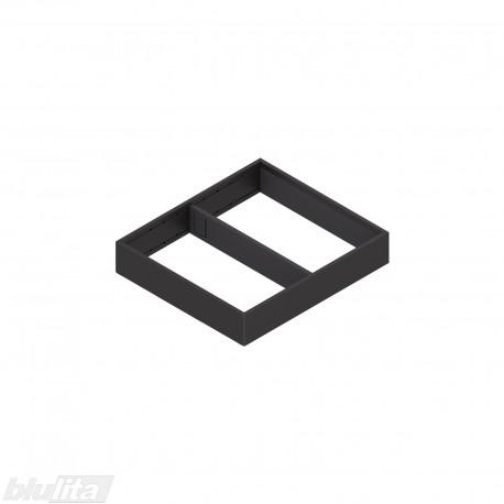 AMBIA-LINE plieninis rėmelis su magnetine nugarėle, plotis242mm, gylis270mm, aukštis50,7mm, juodas