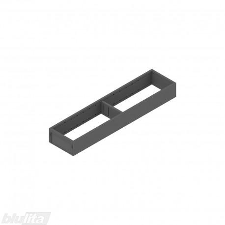 AMBIA-LINE plieninis rėmelis, plotis100mm, gylis450mm, aukštis51,05mm, tamsiai pilkas
