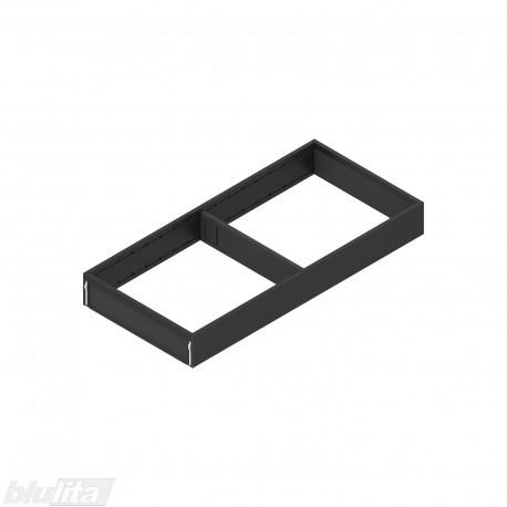AMBIA-LINE plieninis rėmelis, plotis200mm, gylis450mm, aukštis51,05mm, juodas