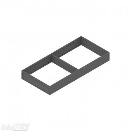 AMBIA-LINE plieninis rėmelis, plotis200mm, gylis450mm, aukštis51,05mm, tamsiai pilkas