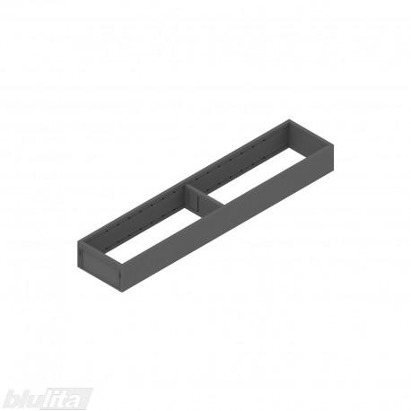 AMBIA-LINE plieninis rėmelis, plotis100mm, gylis500mm, aukštis51,05mm, tamsiai pilkas