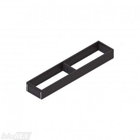 AMBIA-LINE plieninis rėmelis, plotis100mm, gylis500mm, aukštis51,05mm, juodas