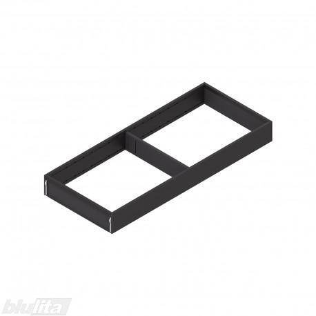 AMBIA-LINE plieninis rėmelis, plotis200mm, gylis500mm, aukštis51,05mm, juodas