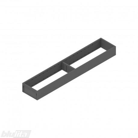 AMBIA-LINE plieninis rėmelis, plotis100mm, gylis550mm, aukštis51,05mm, tamsiai pilkas