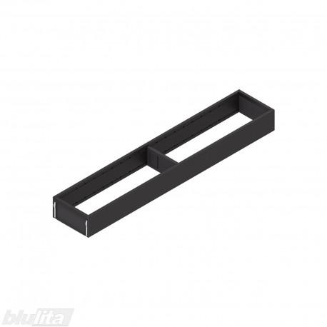 AMBIA-LINE plieninis rėmelis, plotis100mm, gylis550mm, aukštis51,05mm, juodas