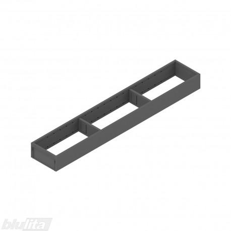 AMBIA-LINE plieninis rėmelis, plotis100mm, gylis600mm, aukštis51,05mm, tamsiai pilkas