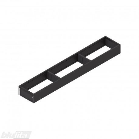 AMBIA-LINE plieninis rėmelis, plotis100mm, gylis600mm, aukštis51,05mm, juodas