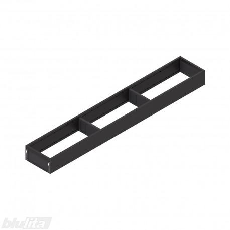 AMBIA-LINE plieninis rėmelis, plotis100mm, gylis650mm, aukštis51,05mm, juodas