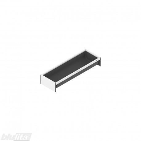 AMBIA-LINE įrankių dėklas su SOFTTOUCH padengimu, plotis300mm, gylis100mm, aukštis50,5mm, tamsiai pilkas / baltas