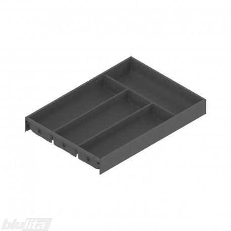 AMBIA-LINE įrankių dėklas su SOFTTOUCH padengimu, plotis300mm, gylis450mm, aukštis50,5mm, tamsiai pilkas
