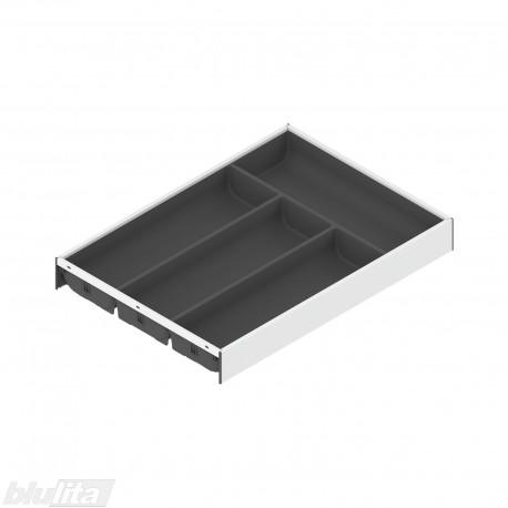 AMBIA-LINE įrankių dėklas su SOFTTOUCH padengimu, plotis300mm, gylis450mm, aukštis50,5mm, tamsiai pilkas / baltas