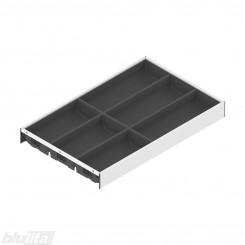 AMBIA-LINE įrankių dėklas su SOFTTOUCH padengimu, plotis300mm, gylis500mm, aukštis50,5mm, tamsiai pilkas / baltas