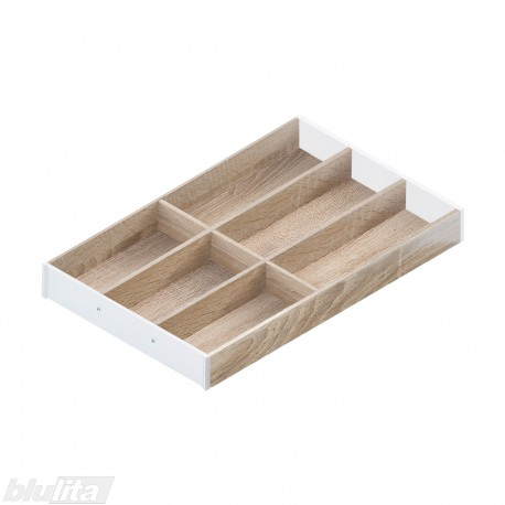 AMBIA-LINE medinis rėmelis, plotis300mm, gylis500mm, aukštis49,9mm, Bardolino ąžuolas/baltas