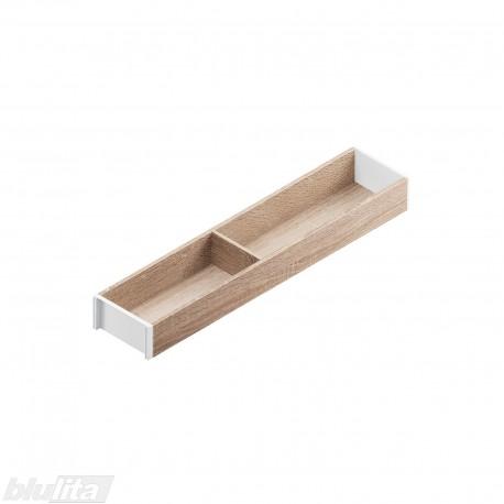 AMBIA-LINE medinis rėmelis, plotis100mm, gylis500mm, aukštis49,9mm, Bardolino ąžuolas/baltas