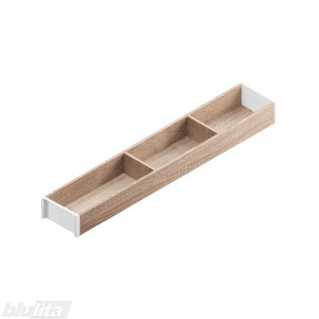AMBIA-LINE medinis rėmelis, plotis100mm, gylis600mm, aukštis49,9mm, Bardolino ąžuolas/baltas