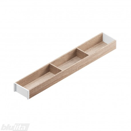 AMBIA-LINE medinis rėmelis, plotis100mm, gylis650mm, aukštis49,9mm, Bardolino ąžuolas/baltas