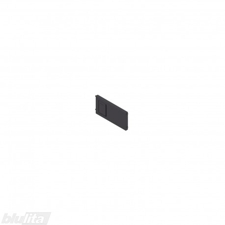 AMBIA-LINE skersinė pertvarėlė plieniniam rėmeliui, plotis92,6mm, aukštis50mm, juoda