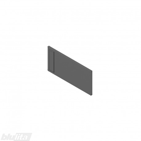 AMBIA-LINE skersinė pertvarėlė plieniniam rėmeliui, plotis211,1mm, aukštis110mm, tamsiai pilka