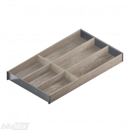 AMBIA-LINE medinis rėmelis, plotis300mm, gylis550mm, aukštis49,9mm, Nebrasko ąžuolas/tamsiai pilkas