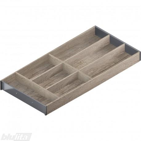 AMBIA-LINE medinis rėmelis, plotis300mm, gylis650mm, aukštis49,9mm, Nebrasko ąžuolas/tamsiai pilkas