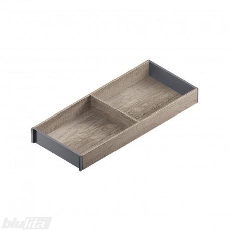AMBIA-LINE medinis rėmelis, plotis200mm, gylis500mm, aukštis49,9mm, Nebrasko ąžuolas/tamsiai pilkas