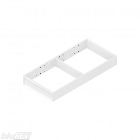 AMBIA-LINE plieninis rėmelis, plotis200mm, gylis450mm, aukštis51,05mm, baltas