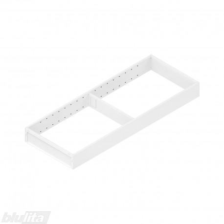 AMBIA-LINE plieninis rėmelis, plotis200mm, gylis550mm, aukštis51,05mm, baltas
