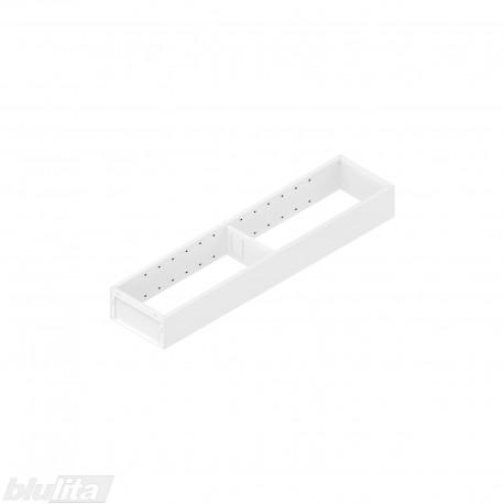 AMBIA-LINE plieninis rėmelis, plotis100mm, gylis450mm, aukštis51,05mm, baltas