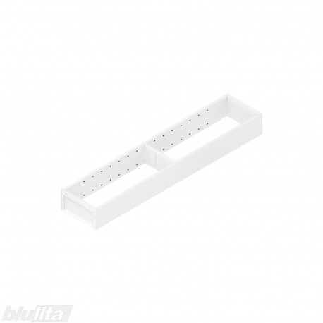 AMBIA-LINE plieninis rėmelis, plotis100mm, gylis500mm, aukštis51,05mm, baltas