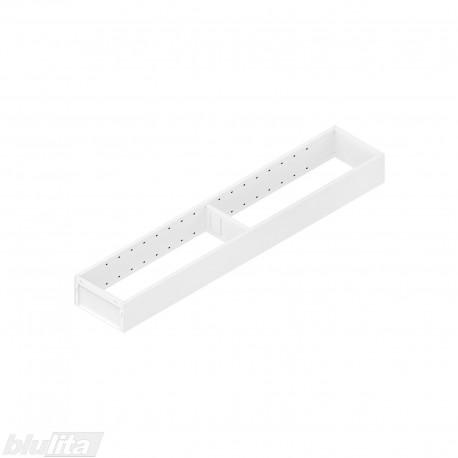 AMBIA-LINE plieninis rėmelis, plotis100mm, gylis550mm, aukštis51,05mm, baltas