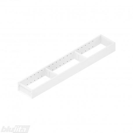 AMBIA-LINE plieninis rėmelis, plotis100mm, gylis600mm, aukštis51,05mm, baltas