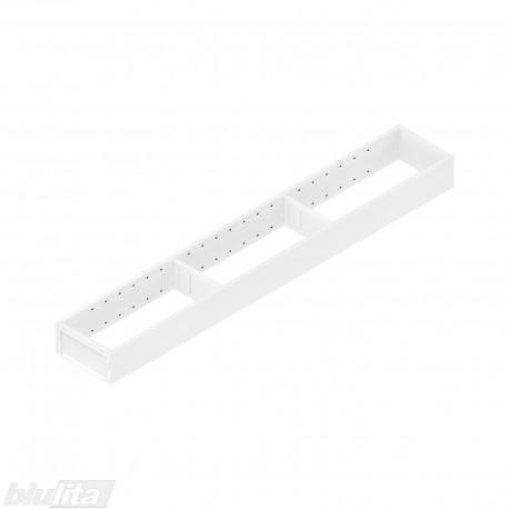 AMBIA-LINE plieninis rėmelis, plotis100mm, gylis650mm, aukštis51,05mm, baltas